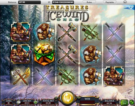 Dungeons and Dragons Treasures of Icewind Dale slot