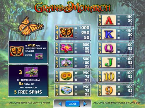 Grand Monarch free play