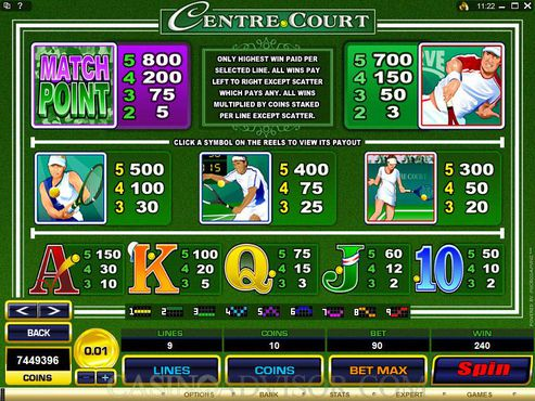 Centre Court free play