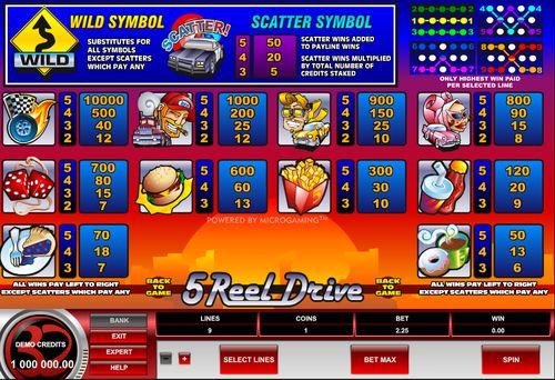 5 Reel Drive free play