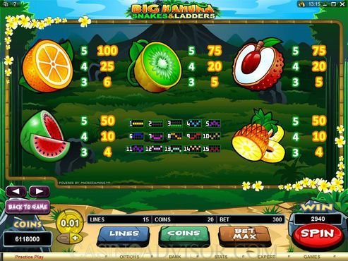 Big Kahuna Snakes And Ladders free play