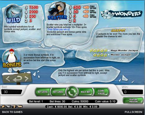 Icy Wonders  free play