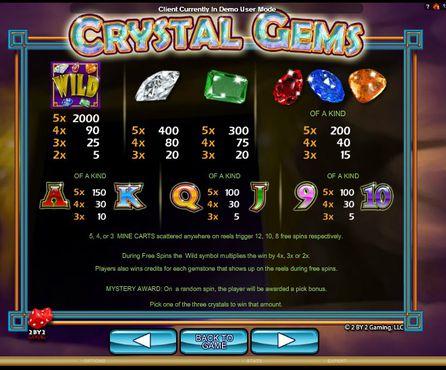 Crystal Gems free play