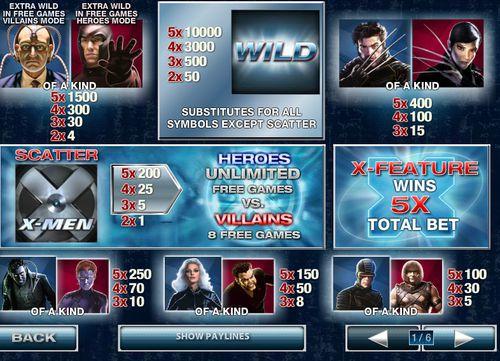 X Men 50 Lines free play