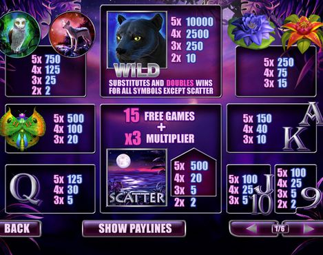 Panther Moon free play