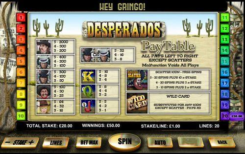 Desperados free play