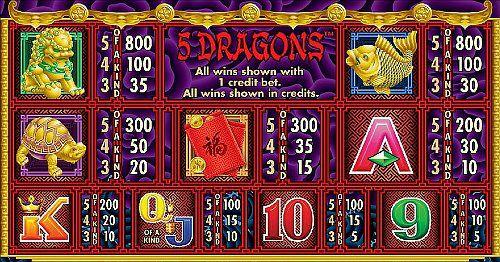 5 Dragons free play