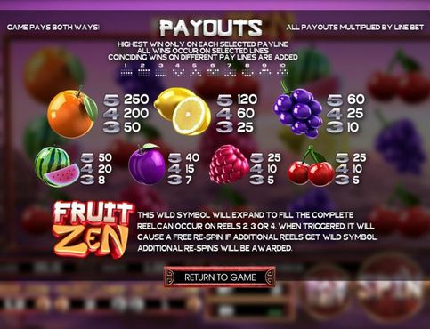 Fruit Zen free play