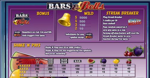 Bars And Bells free play