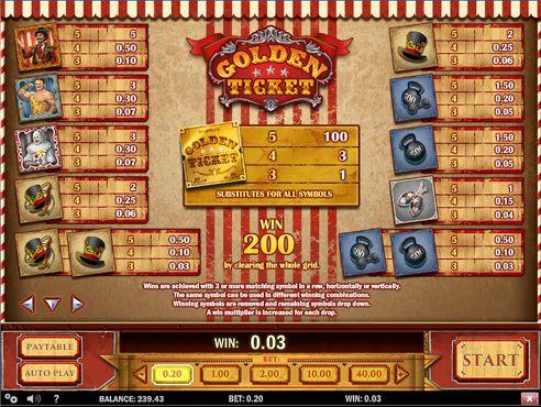 Golden Ticket free play