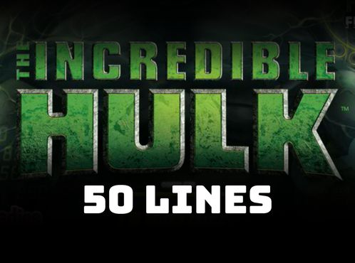 The Incredible Hulk 50 Lines free play