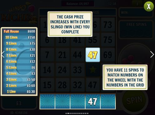 Slingo Riches free play