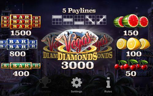 Vegas Diamonds free play