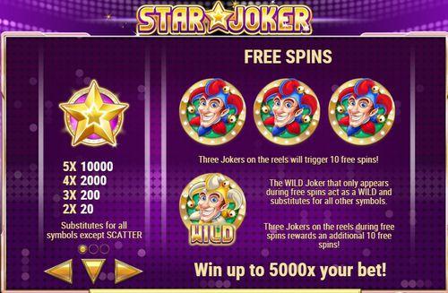 Star Joker free play