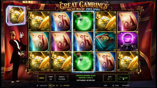 The Great Gambini's Night Magic free play