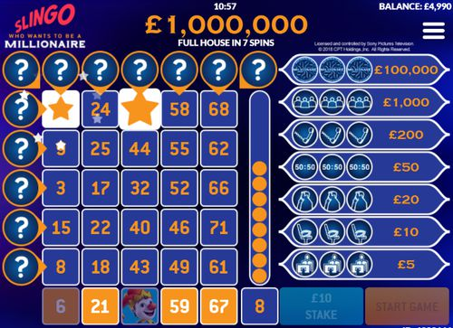 Slingo Who Wants To Be A Millionaire free play