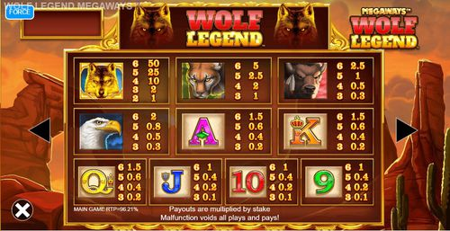 Wolf Legend Megaways free play