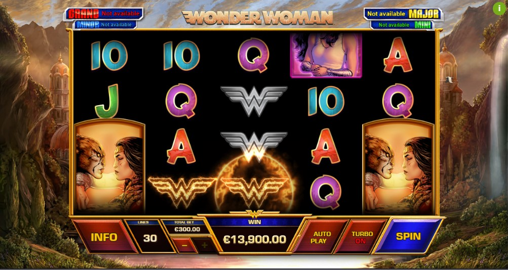 Wonder Woman Playtech demo