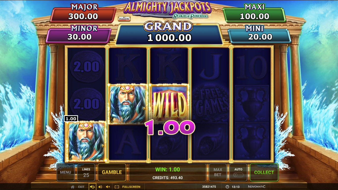 Almighty Jackpots: Realm of Poseidon demo