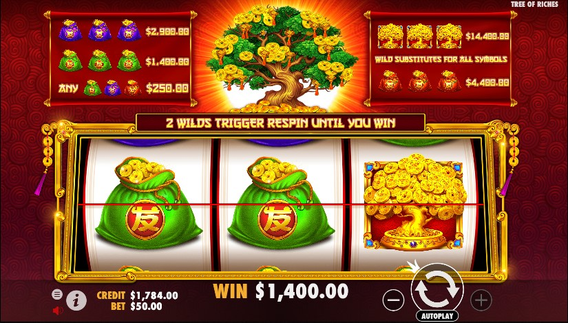 Tree of Riches slots demo