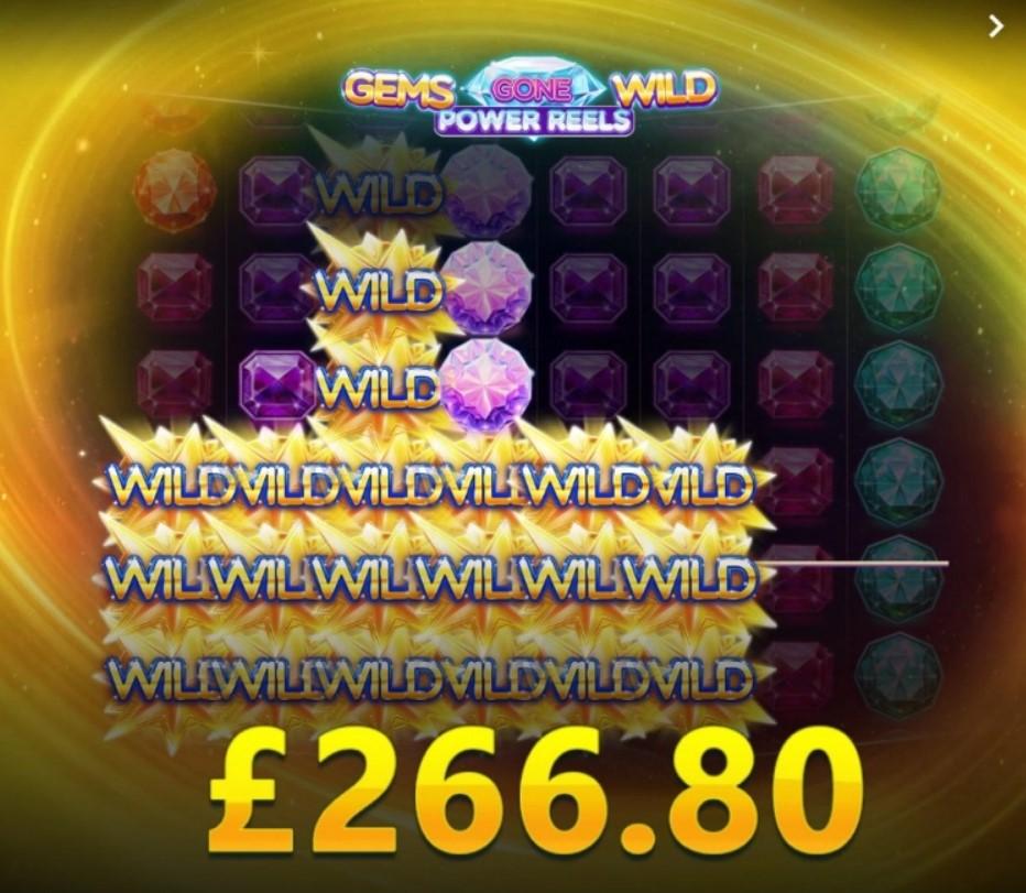 Gems Gone Wild Power Reels  demo
