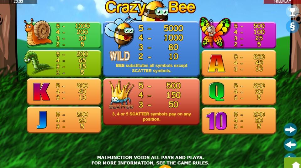 Crazy Bee  demo
