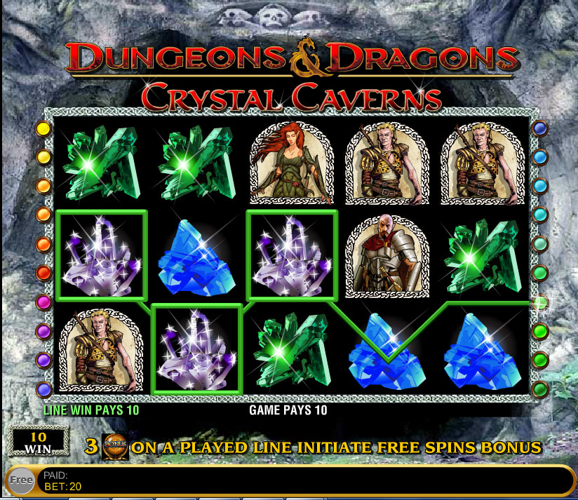 Dungeons And Dragons Crystal Caverns demo