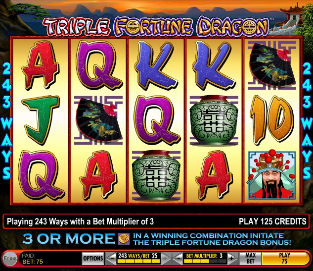 Play Triple Fortune Dragon Online Free