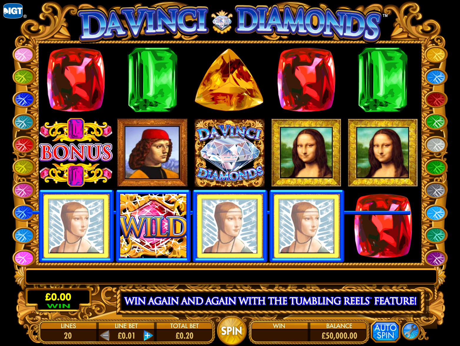 Free Slots Da Vinci Diamonds