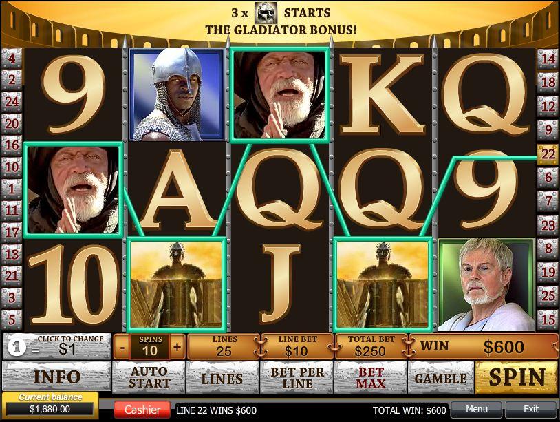 Gladiator free slot machine