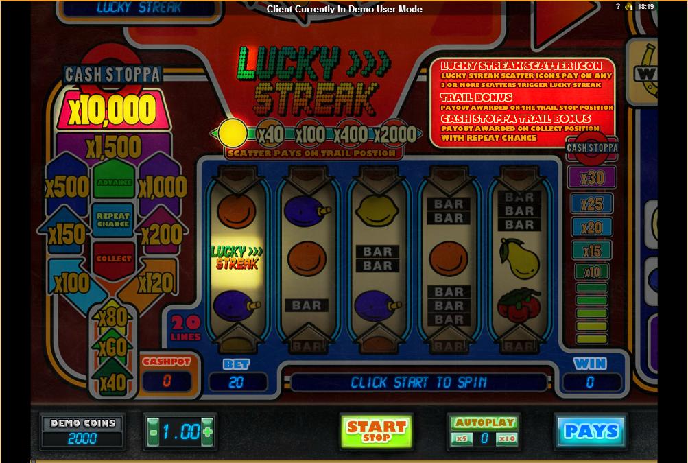 Lucky Streak demo