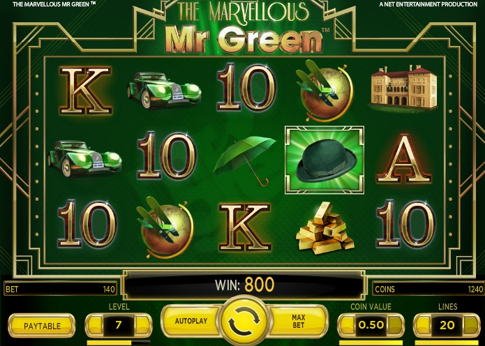 The Marvellous Mr Green Slot