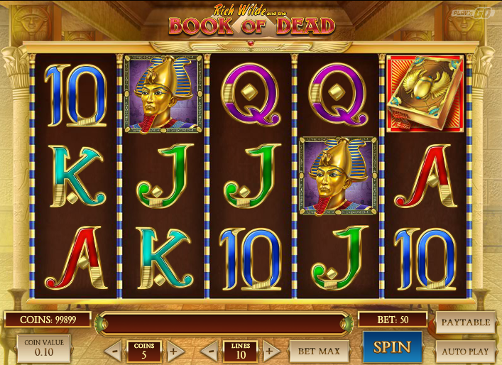 Book of dead online slot
