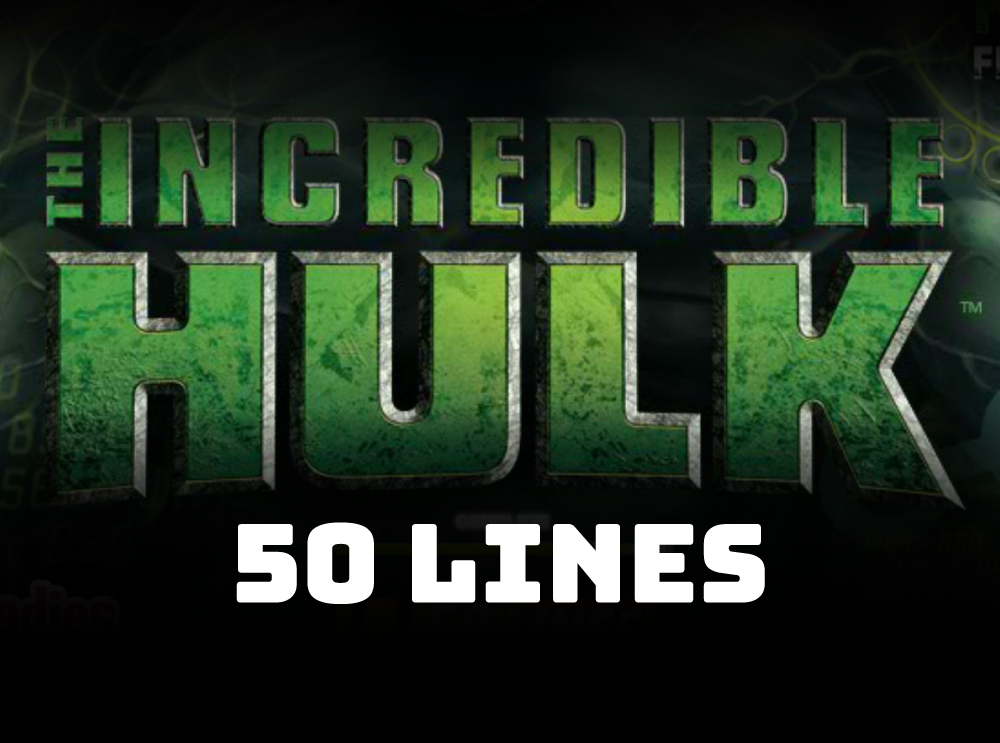 The Incredible Hulk 50 Lines slot