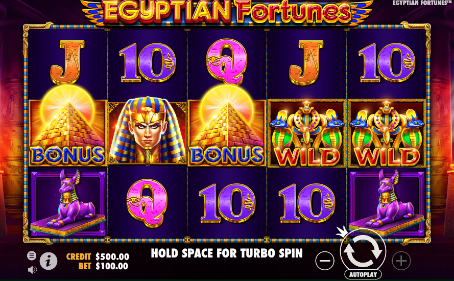 Egyptian Fortunes demo