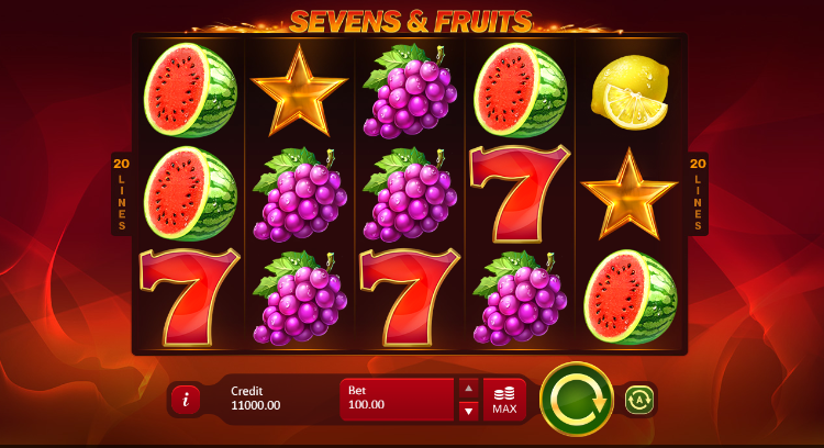 Sevens & Fruits: 20 Lines demo