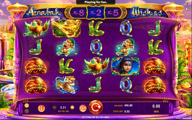 The main objective in Azrabah Wishes is identical to that of most other slot games and involves matching symbols from left to right across active paylines.The minimum and maximum bet values featured in Azrabah Wishes are $ and $, respectively.When it comes to its graphics, Azrabah Wishes simply blows us away!