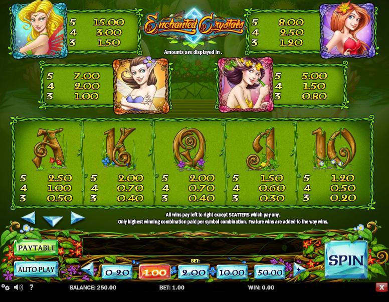 Enchanted Crystals free play
