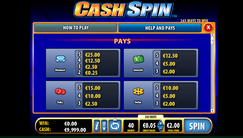 Cash Spin free play