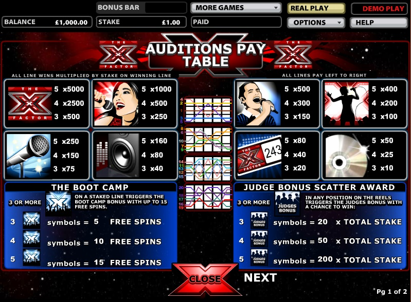 X Factor free play
