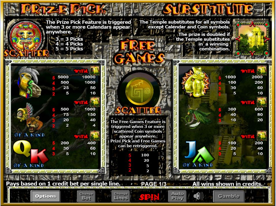 Aztec Rising free play