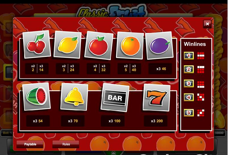 Classic Fruit free play