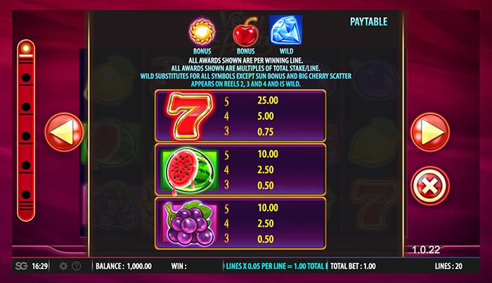 Very Fruity free play