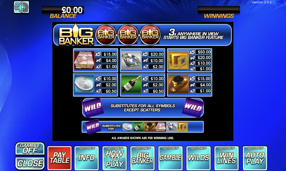 Big Banker free play