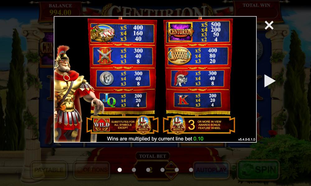 Centurion free play