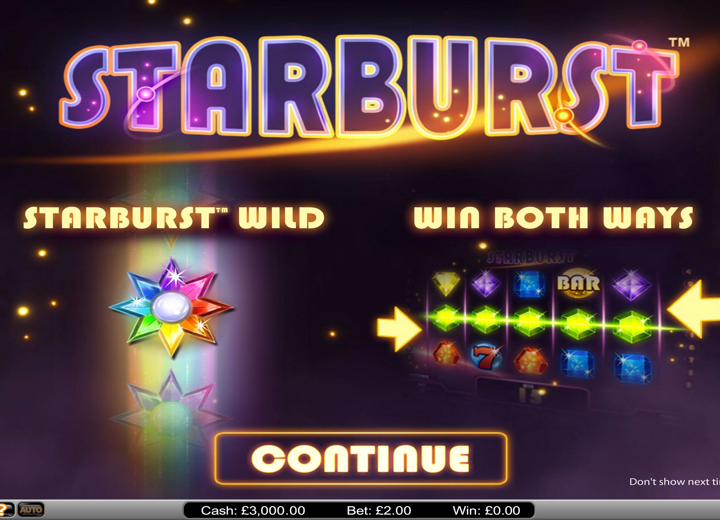 Starburst free play