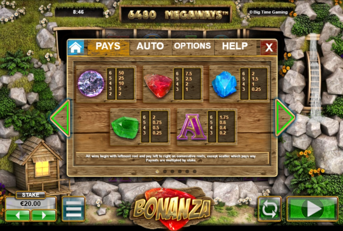Bonanza free play