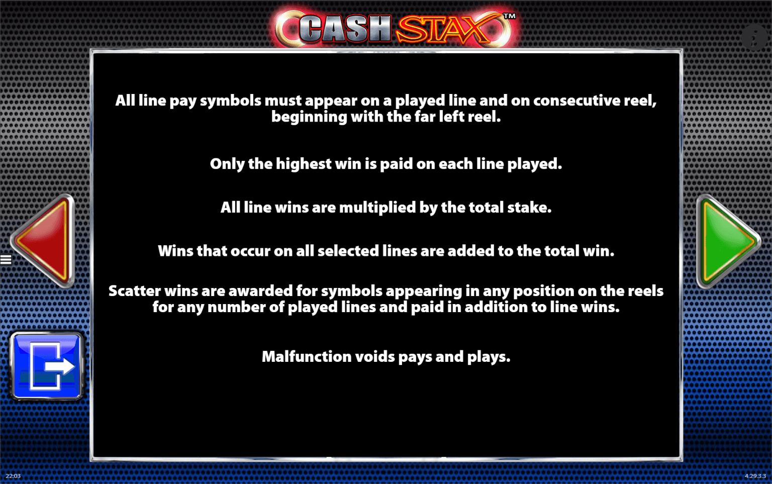 Cash Stax free play