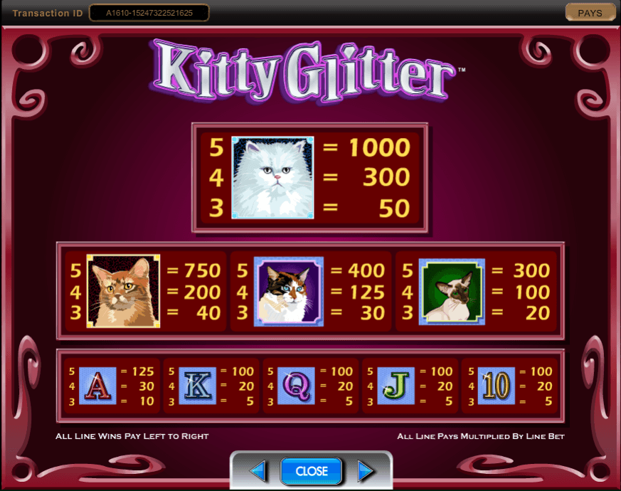Kitty Glitter free play