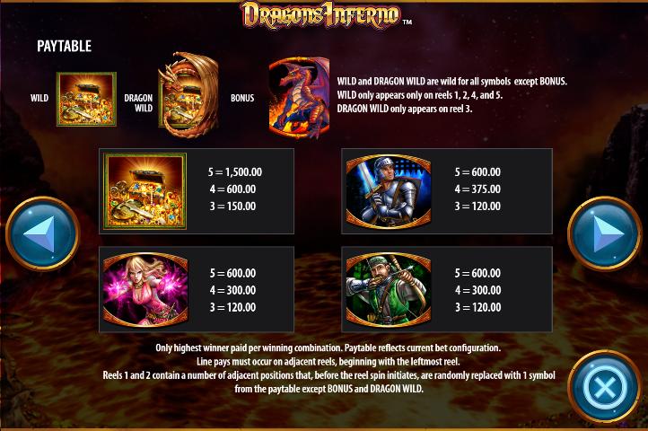 Dragon's Inferno free play